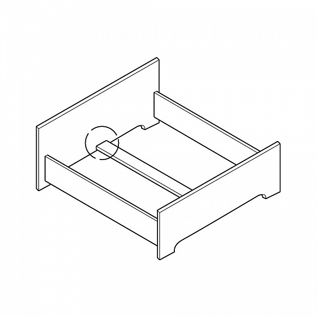REMOVABLE BED CONNECTOR FOR CENTRAL TIE BAR